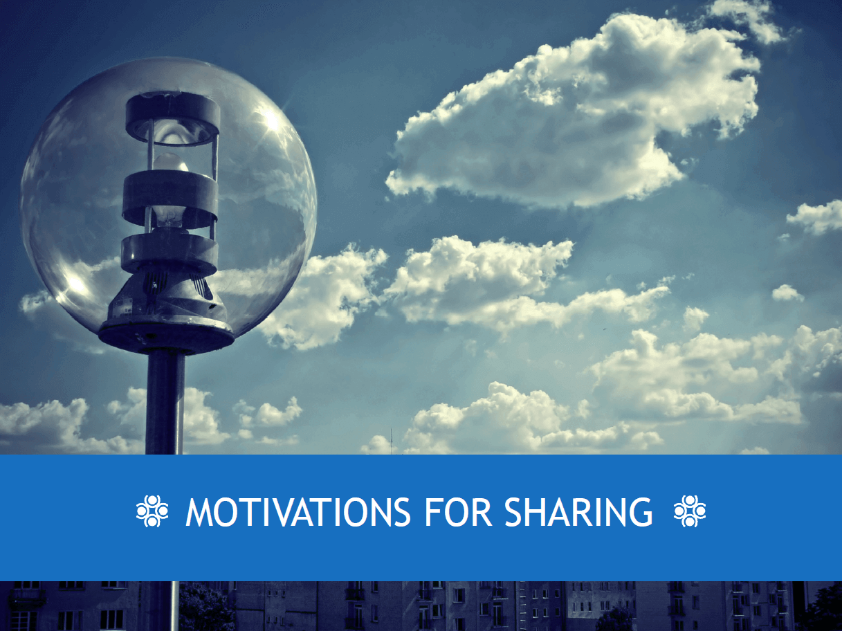 Motivations for sharing