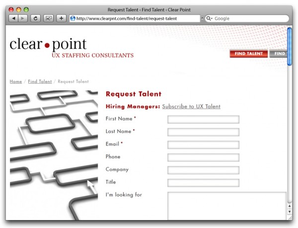 Clear Point - Request Talent