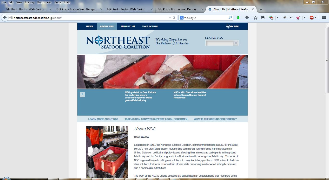 Northeast Seafood Coalition - about Page