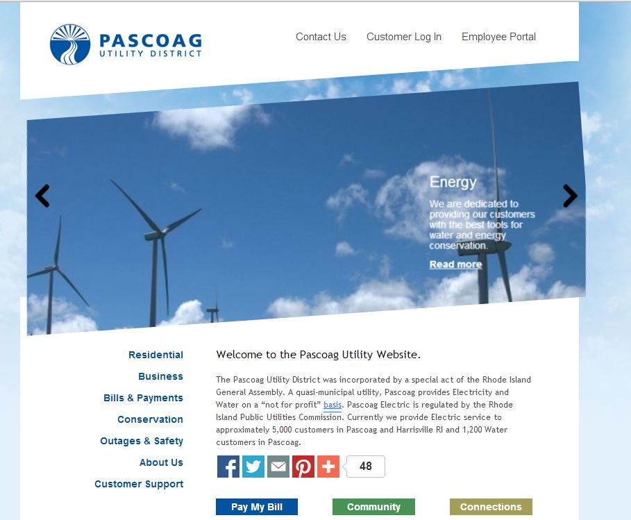 Pascoag Utility District - Home Page