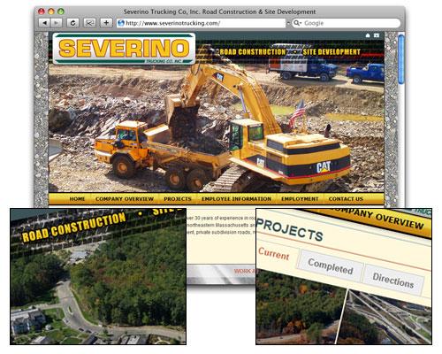 Severino Trucking - Homepage Design
